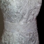 Patterned Wedding Dress with Belt